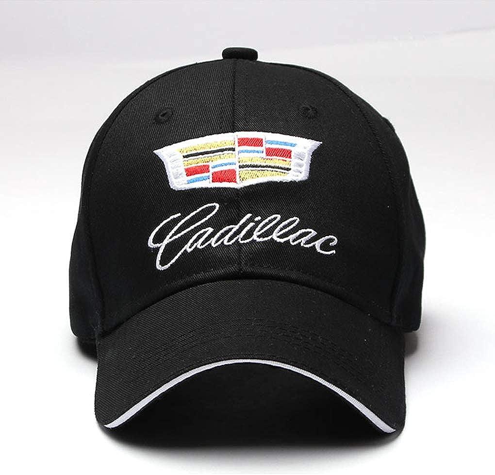 Black car Logo Baseball hat Outdoor Sports Sunscreen Baseball Cap for Men and Women Dark rose Adjustable car Logo Baseball Cap for Cadillac