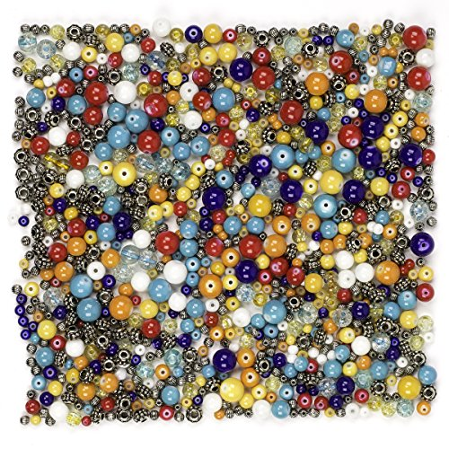 Cousin DIY 9oz/280g Glass/Acrylic Bead Mix (Mix Bead Glass)