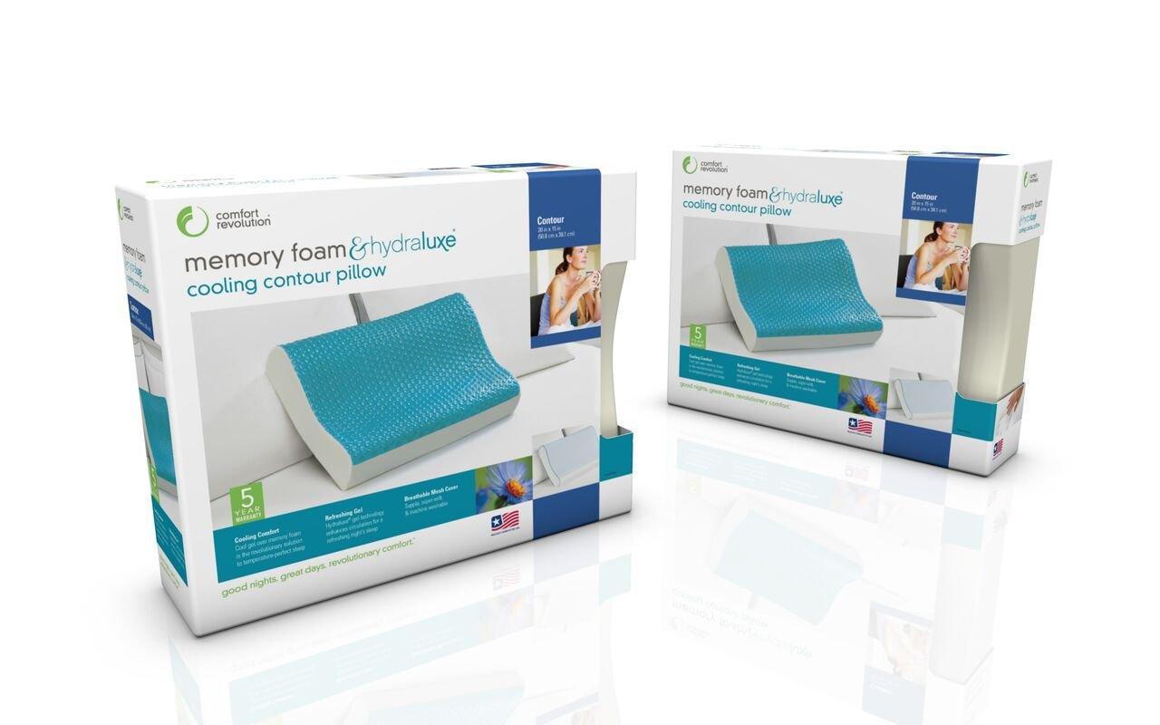 Comfort Revolution Memory Foam Hydraluxe Contour Pillow, Standard