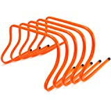 Speed Agility Training Hurdles, Pack of 5, Choose from 6-inch, 9-inch, or 12-inch by Crown Sporting Goods
