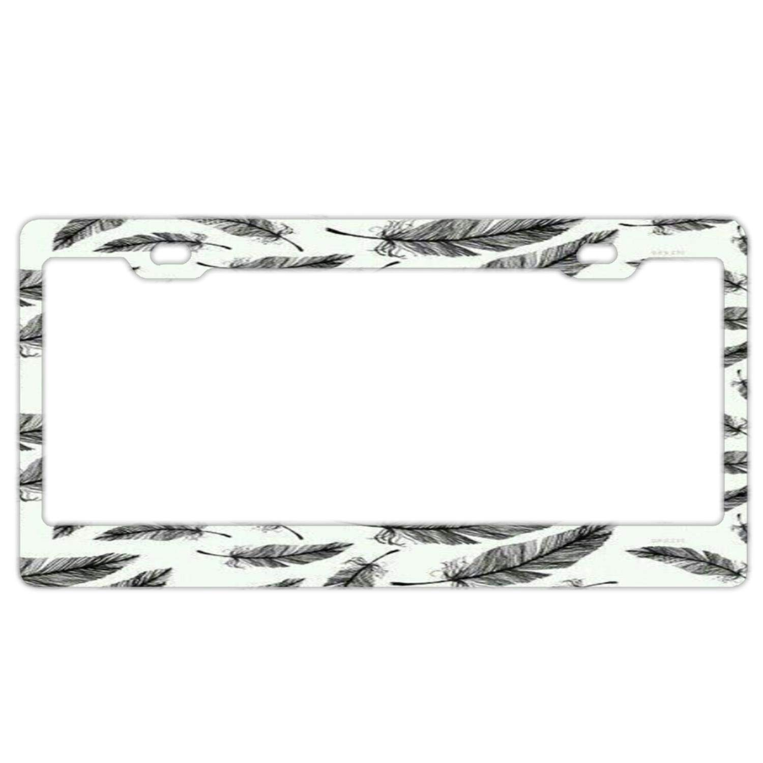 Bright Palm Trees Auto Car License Plate Frame Tag Holder 4 Hole