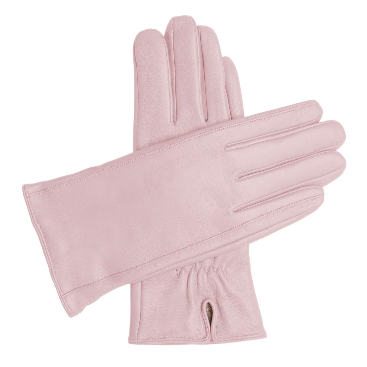 Downholme Classic Leather Cashmere Lined Gloves for Women (Pink, M) by Downholme