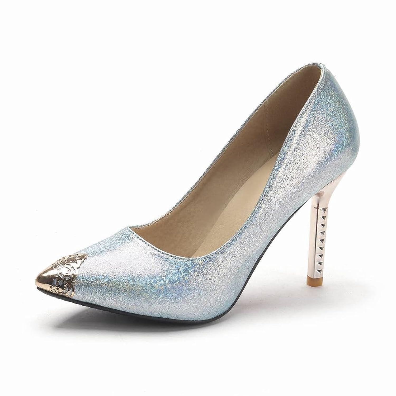 Show Shine Women's Fashion Shining Pointed Toe High Heel Pumps Shoes