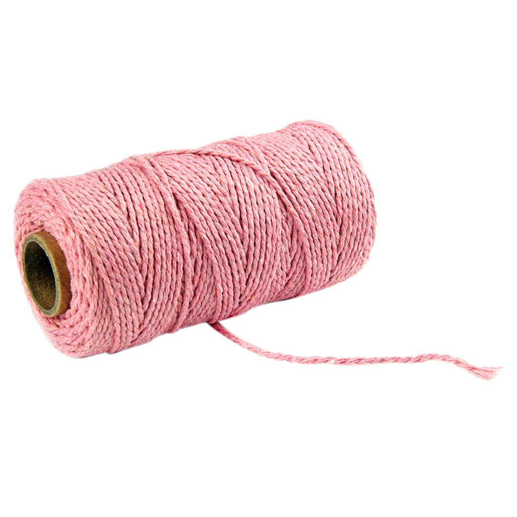 300 Feet Cotton Kitchen Twine, Cooking String, Bakers Twines for Arts Crafts and Gift Wrapping salaheiyodd (Pink)