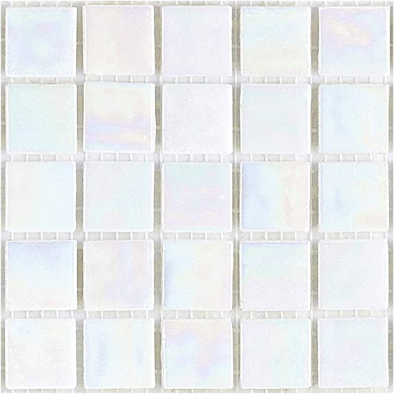 NEW 2kg GLASS MOSAIC TILES IRIDESCENT COLOURS MARBLE FURNITURE CRAFT PEARL MIXED
