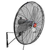 OEM Tools 24'' Outdoor Oscillating Wall Mount Fan Black