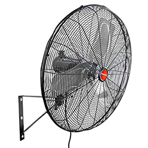 "OEMTOOLS 24894 30"" Outdoor Oscillating Wall Mount Fan, Black"