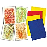 Roylco R-5839 Texture Rubbing Plates, 0.25'' Height, 14'' Wide, 9'' Length (4 per Package)