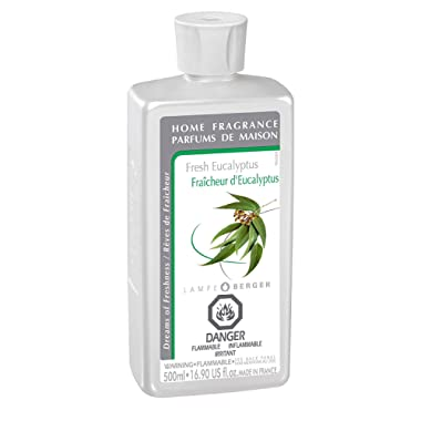 Fresh Eucalyptus   Lampe Berger Fragrance Refill by Maison Berger   for Home Fragrance Oil Diffuser   Purifying and perfuming Your Home   16.9 Fluid Ounces - 500 milliliters   Made in France