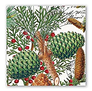 Michel Design Works 20-Count 3-Ply Paper Luncheon Napkins, Spruce