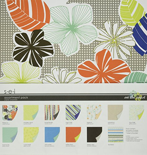 SEI On The Coast Assortment Pack, 24-Papers and 1-Die Cut Sheet by SEI