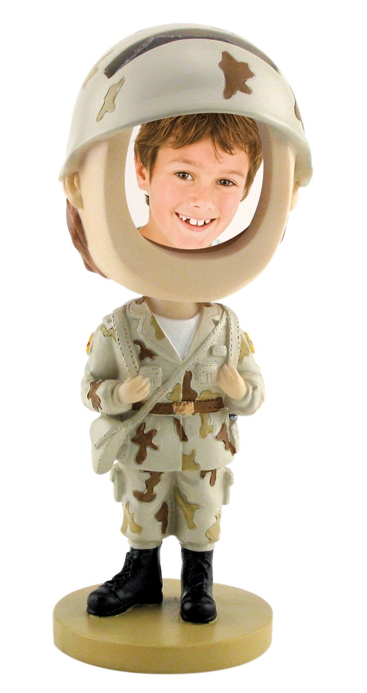 Army Soldier Photo Bobble Head Neil Enterprises Inc.