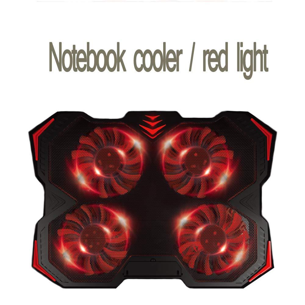 Portátil Refrigerador Ajustable Ascensor Ordenador De Plegable Cojín De Enfriamiento De Ordenador 17 Pulgadas Ventilador Base De Refrigeración (Luz Roja, Luz Azul),Rojo 7c469a