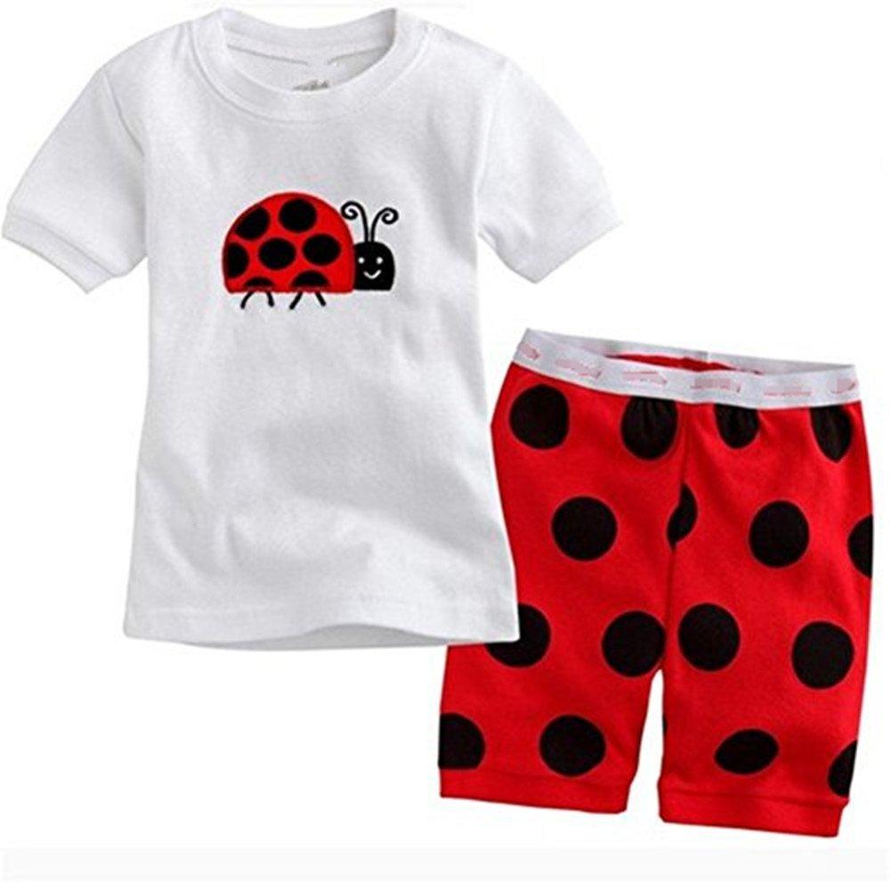 Kidsmall Baby Boys Girls Shorts Pajama Set Sleepwear 100% Cotton 2T-7T no