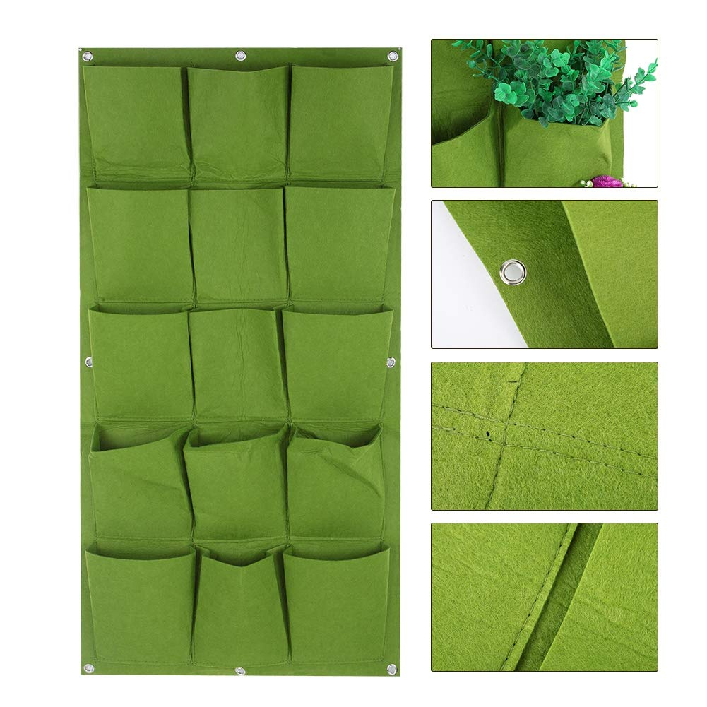 15 Tasche Degradabili Verticali Appesi Muro Giardino Pianta Grow Bag Fioriera Contenitore Zerone Plant Grow Bag