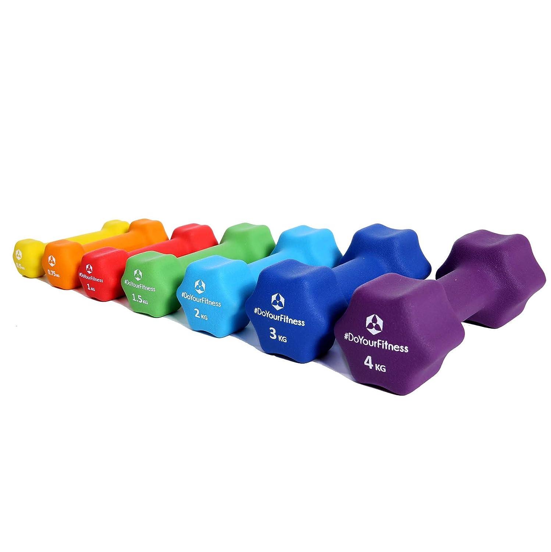 #DoYourFitness Haltères en néoprène »Lire«/idéals pour la rééducation et la musculation/Produit confortable avec protection néoprène/disponible en différents couleurs et poids de 0,5kg à 4kg 5 kg #DoYourSports