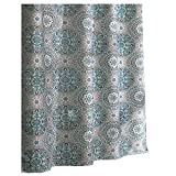 Unique Shower Curtains Ex-Cell Carthe Fabric Shower Curtain, 70 by 72-Inch, Turquoise