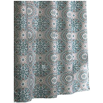 Grey And Turquoise Shower Curtain Excell Carthe Fabric Shower