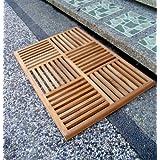 """New Grade A Teak Wood 36""""x24.5"""" Basket Weave Door / Shower/ Spa / Bath Floor Mat"""