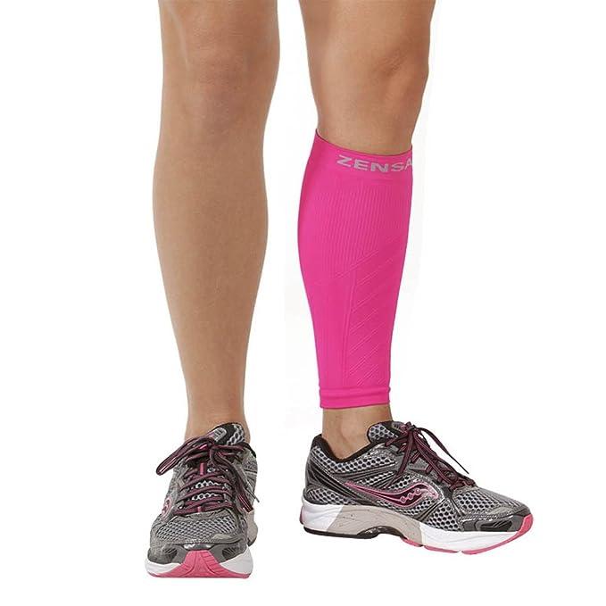 b5606437f Amazon.com  Zensah Calf   Shin Splint Compression Sleeve - Treat Shin  Splints and Calf Strains - Compression Sleeve for Running