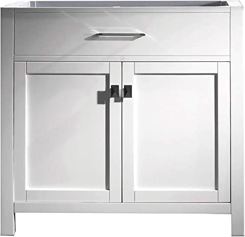 Virtu USA MS-2036-CAB-WH Caroline Bathroom Vanity 36 inches White