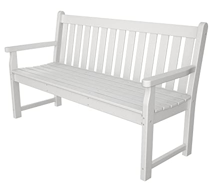 Awesome Polywood Tgb60Wh Traditional Garden 60 Bench White Inzonedesignstudio Interior Chair Design Inzonedesignstudiocom