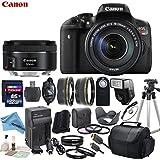 Canon EOS T6i Digital SLR Camera Bundle with EF-S 18-135mm f/3.5-5.6 IS STM Lens & EF 50mm f/1.8 STM Lens & eDigitalUSA Premium Kit - International Version