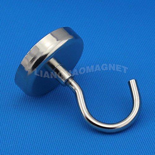 AOMAG Ndfeb Noedymium Hook Magnets N52 Diameter 60mm - Each