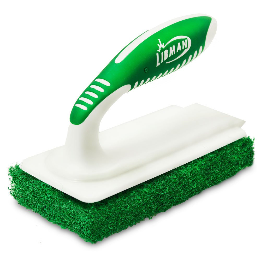 Libman Commercial 1161 Tile and Tub Scrub, Polypropylene, 6'' x 3'', Green and White (Pack of 6)
