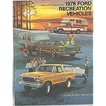 1978 Ford RV Motorhome Brochure Pickup Camper Trailer Van