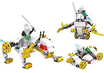 Modbrix 3 in1 Ladrillos de Tigre Blanco Ninja Mini Figuras ...