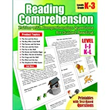 Reading Comprehension: Levels I, J, K and L Fables with Comprehension Questions for Guided Reading for Kindergarten, 1st, 2nd, 3rd Grade