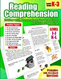 Reading Comprehension: Levels I, J, K and L Fables with Comprehension Questions for Guided Reading for Kindergarten, 1st, 2nd, 3rd Grade (Reading Comprehension Passages and Questions) (Volume 10)