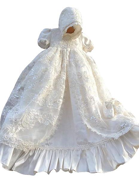 Amazon.com: Faithclover - Vestido de bautizo, diseño de flor ...