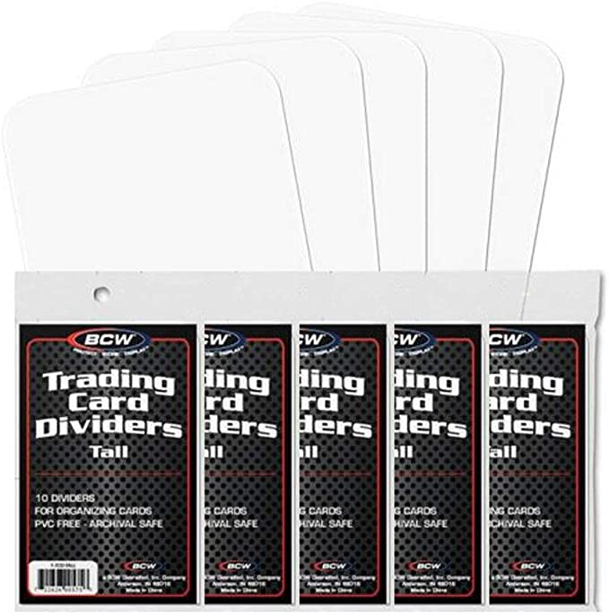 50 Cards Total 5 BCW Brand Trading Card Divider Cards 10-Pack TCD