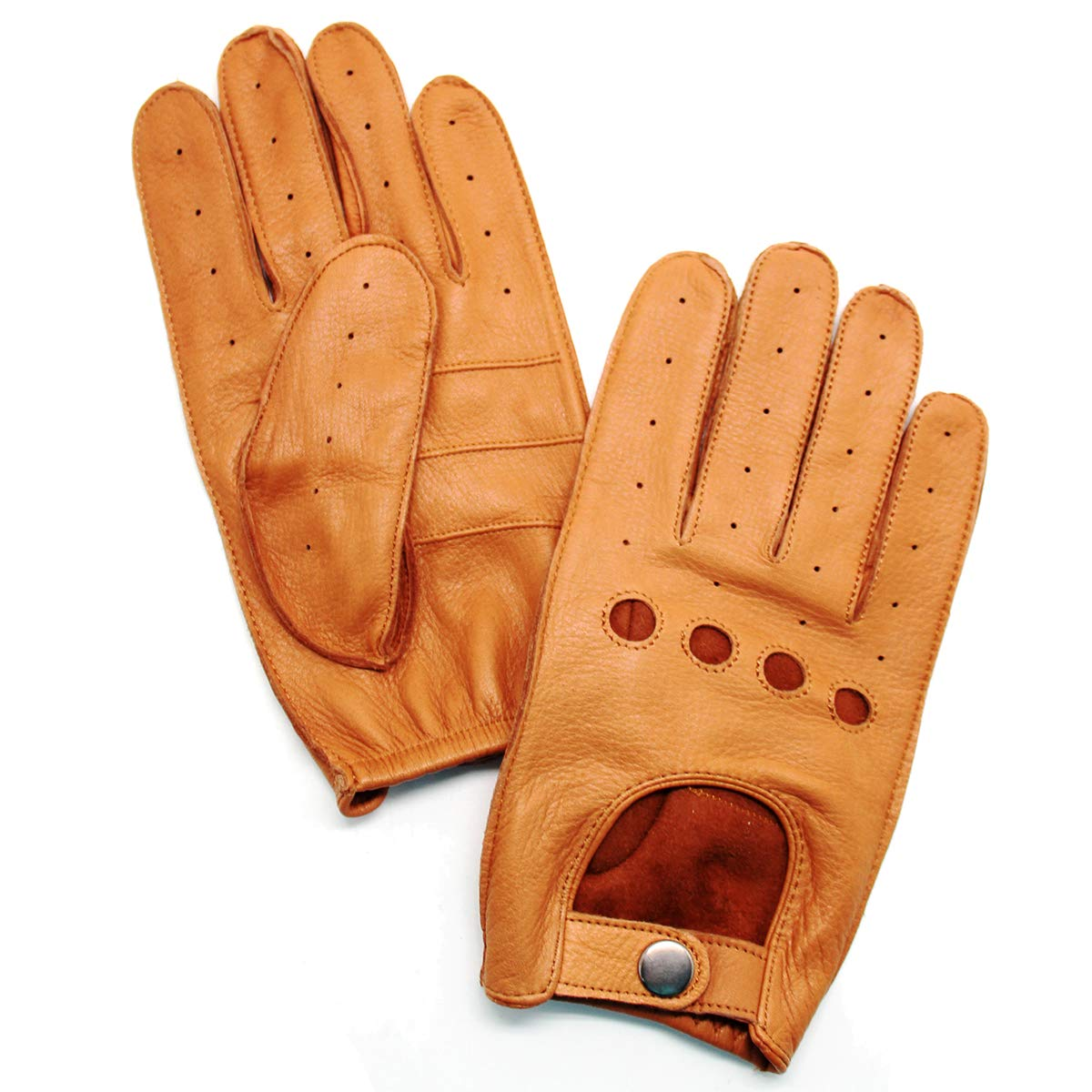 a1de05772 YISEVEN Men's Deerskin Leather Driving Gloves Unlined at Amazon Men's  Clothing store:
