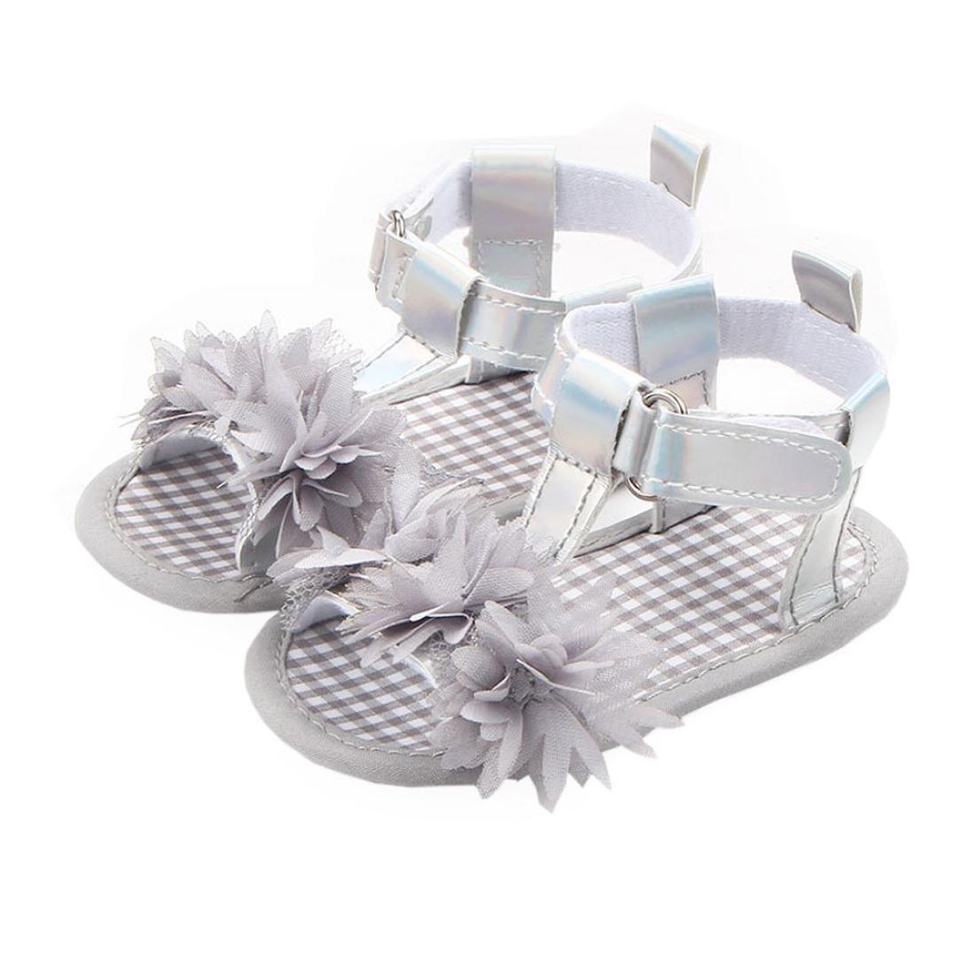 WARMSHOP Fashion Princess Single Shoes Flower Checked Soft Sole Sandals Shoes