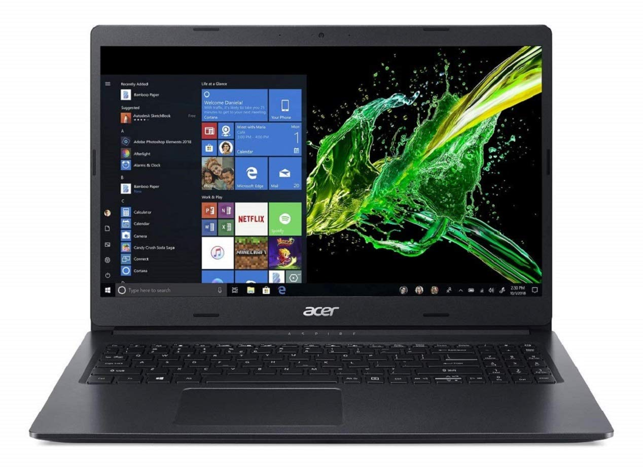 Acer Aspire 3 Thin 8th Gen Core i3 15.6 inch Full HD Thin and Light Laptop (4GB/256GB SSD/Windows 10/Shale Black/1.9kg), A315-54
