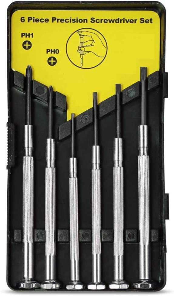 Silver for Easter Precision Screwdriver Kit with 6 DifferentScrew Driver Tools /& Home Improvement Mini Screwdriver Set with Case Xisheep Home D/écor