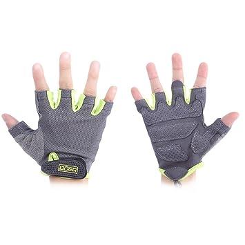 83a4967f5623ac Lady gepaart Fitness Handschuhe Sport Fitness Gewichtheben Handschuhe  Frauen Half Finger Handschuhe Displayschutzfolie, grün