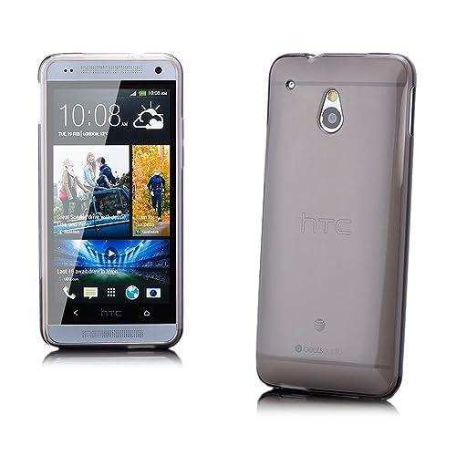 iCues HTC One Mini M4    Transparent TPU Case Schwarz   [Display Schutzfolie Inklusive] Transparent Klarsichthülle Durchsichtig Klare Klarsicht Silikon Gel Schutzhülle Hülle Cover Schutz