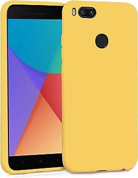 TBOC Funda para Xiaomi Mi A1 - Mi 5X- Carcasa Rígida [Amarilla] Silicona Líquida Premium [Tacto Suave] Forro Interior Microfibra [Protege la Cámara] Antideslizante Resistente Suciedad Arañazos: Amazon.es: Electrónica