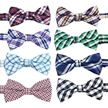 PET SHOW Plaid Dog Bow Ties Adjustable Bowties for Small Dogs Puppy Cats Party Pet Collar Neckties Grooming Accessories Pack of 8