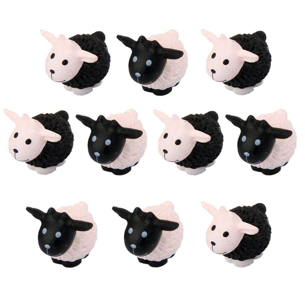 10pcs Miniature Small Sheep Dollhouse Bonsai Garden Landscape Decoration Generic
