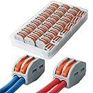 KINYOOO 33 個 コンパクトスプライスコネクタ、ワンタッチコネクターより線・単線接続可能コネクタ 2 穴用 (PCT-212)