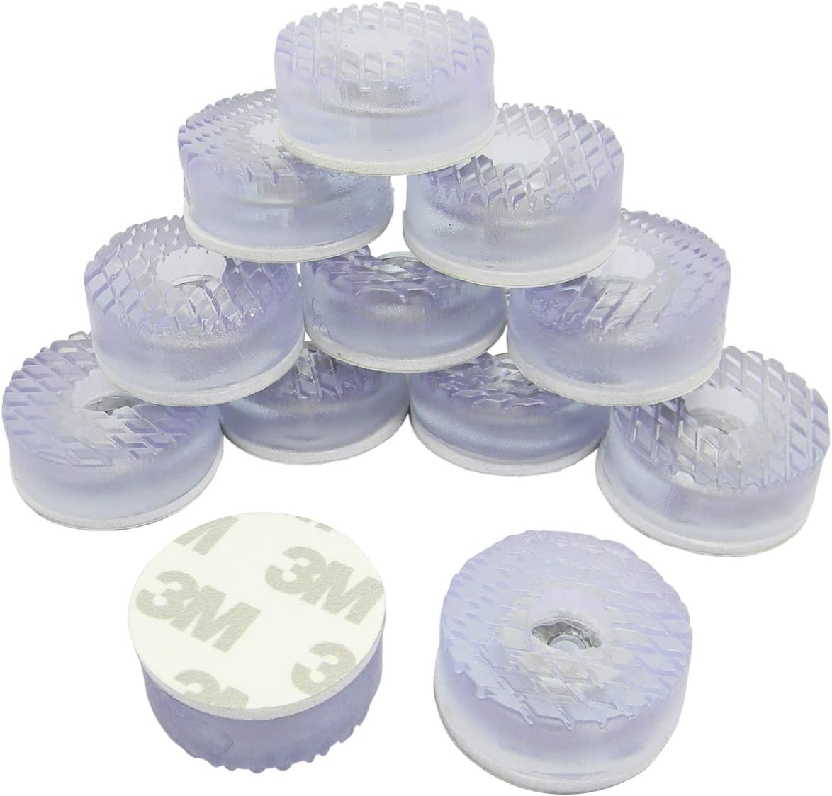 Transparent Cylindrical Shape Rubber Non Slip Non Skid Feet Pad for Table Desk Chair and Sofa 30MM 20PCS