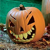 Halloween Pumpkin Carving Kit - Pumpkin Teeth for your Jack O' Lantern - Set of 18 Glow in the Dark Shark Teeth