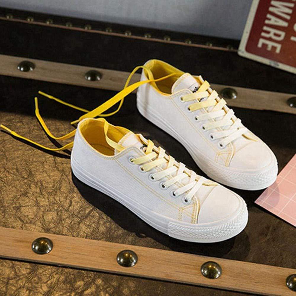 YSFU Turnschuhe Frauen Turnschuhe Sportschuhe Damenschuhe Canvas Schuhe Frauen Casual Spitze Flache Schuhe Fitness-Student Läuft Flach Atmungsaktiv Leicht Im Freien
