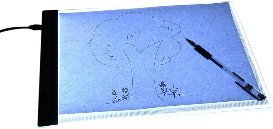 Spina europea Akozon tavolo da disegno a LED 1 pz A4 LED art stencil board light pad tracing tavolo da disegno tavolo da disegno per bambini artisti