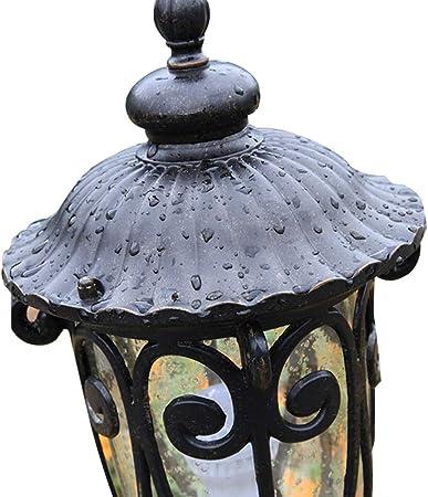 LJIANW-Farolas Jardin Exterior Farola Exterior Impermeable Aluminio Moldeado LED Antracita E27 Paisaje Luz De La Tapa Camino del Patio Decoración (Color : Black, Size : 18x85cm): Amazon.es: Hogar
